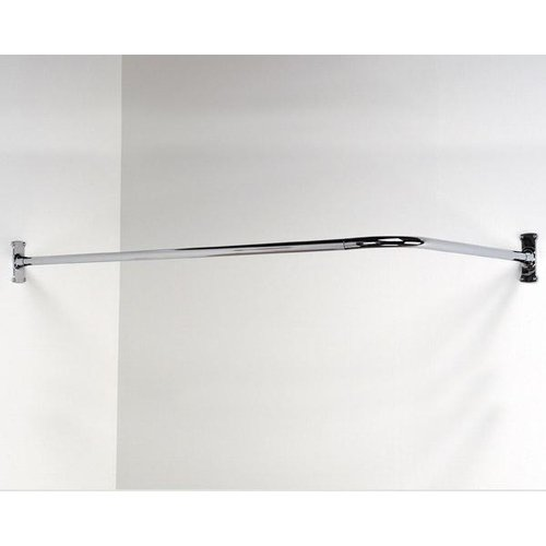 including shower curtain extensible fittings oval steel bath stainless tub rail rod adjustable curved chrom dp