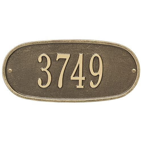 Whitehall Oval Personalized Address Plaque