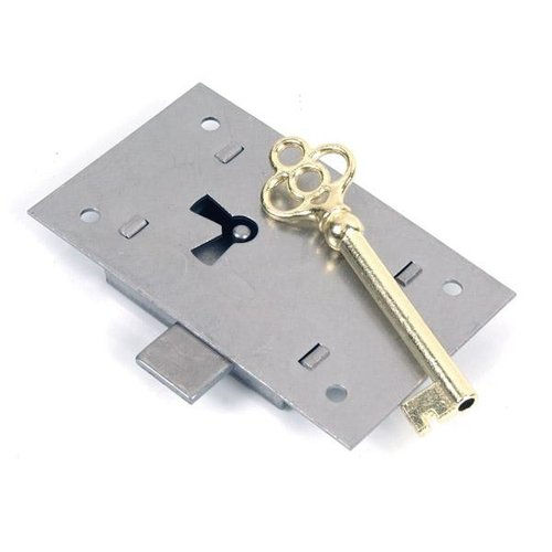 """Restorers Classic 3"""" Non-Mortise Lock and Key"""