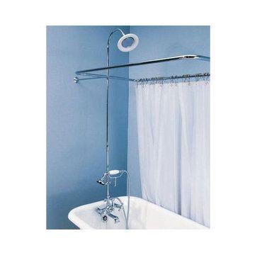 British Telephone Leg Tub Shower Enclosure Set