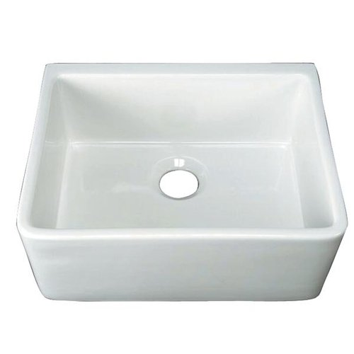 24 CENTER DRAIN FARMHOUSE FIRECLAY SINK